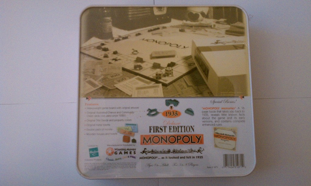1935 first edition monopoly