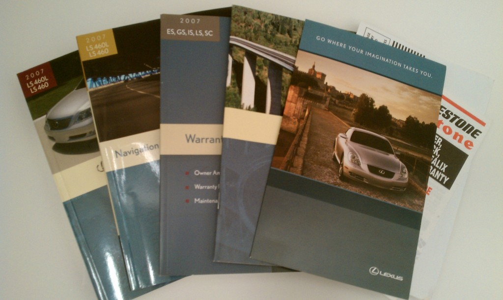 2007 Lexus LS460 Owners Manual