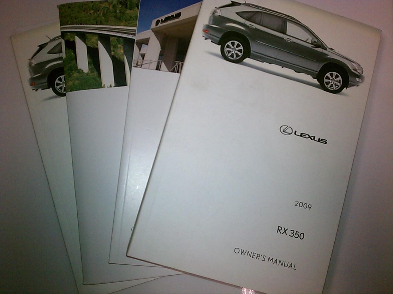 rx 350 owners manual · 2009 Lexus ...
